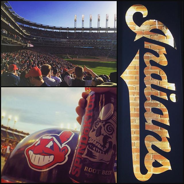 Let's try this again!  @indians #reopeningday is on!  The sun is shining and Cleveland's Spindoktor #Hardrootbeer is ice cold! #cleveland #rolltribe #baseball #beer