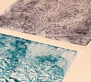 Collograph vegetative series