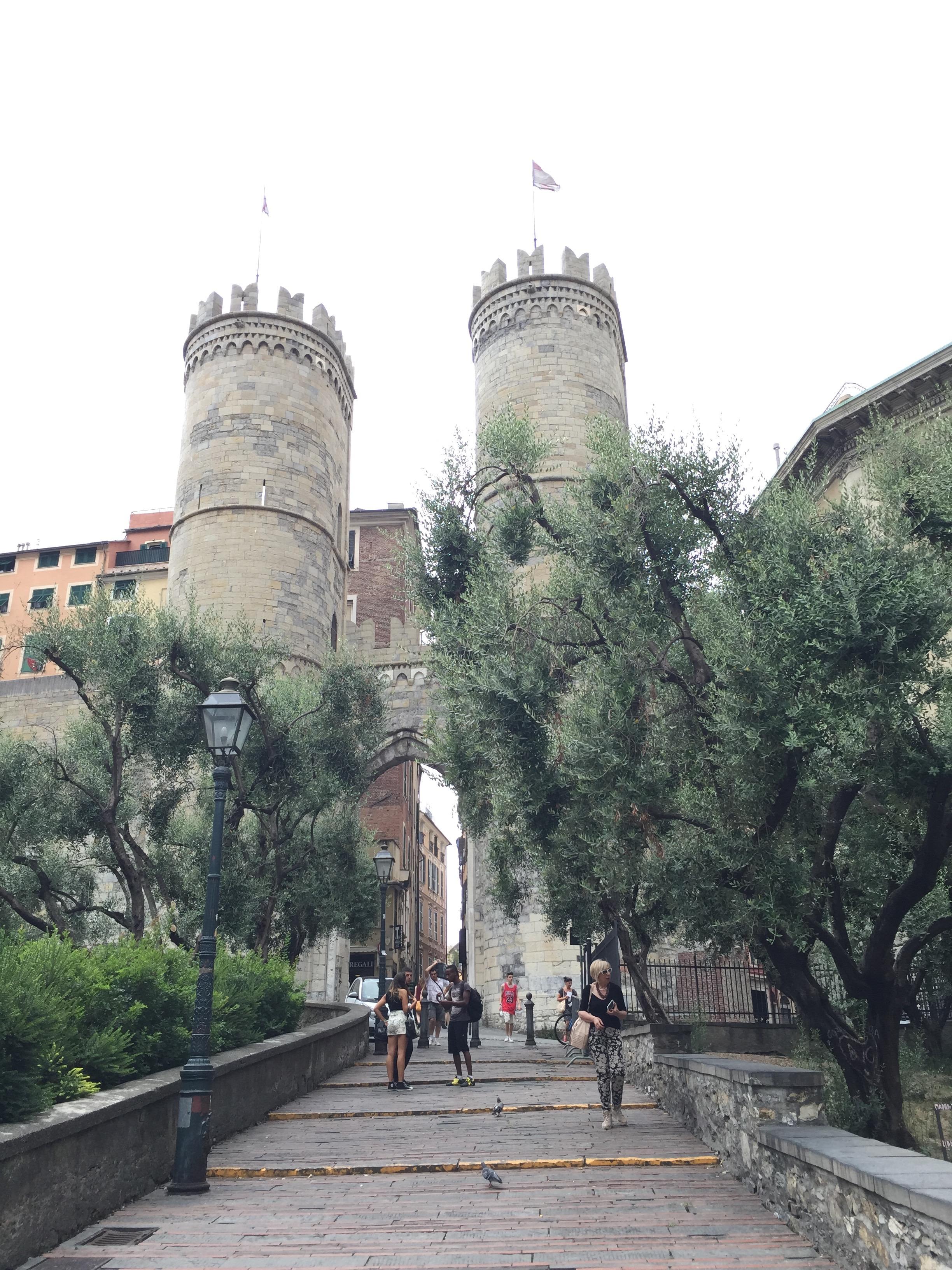 City gates to Genoa