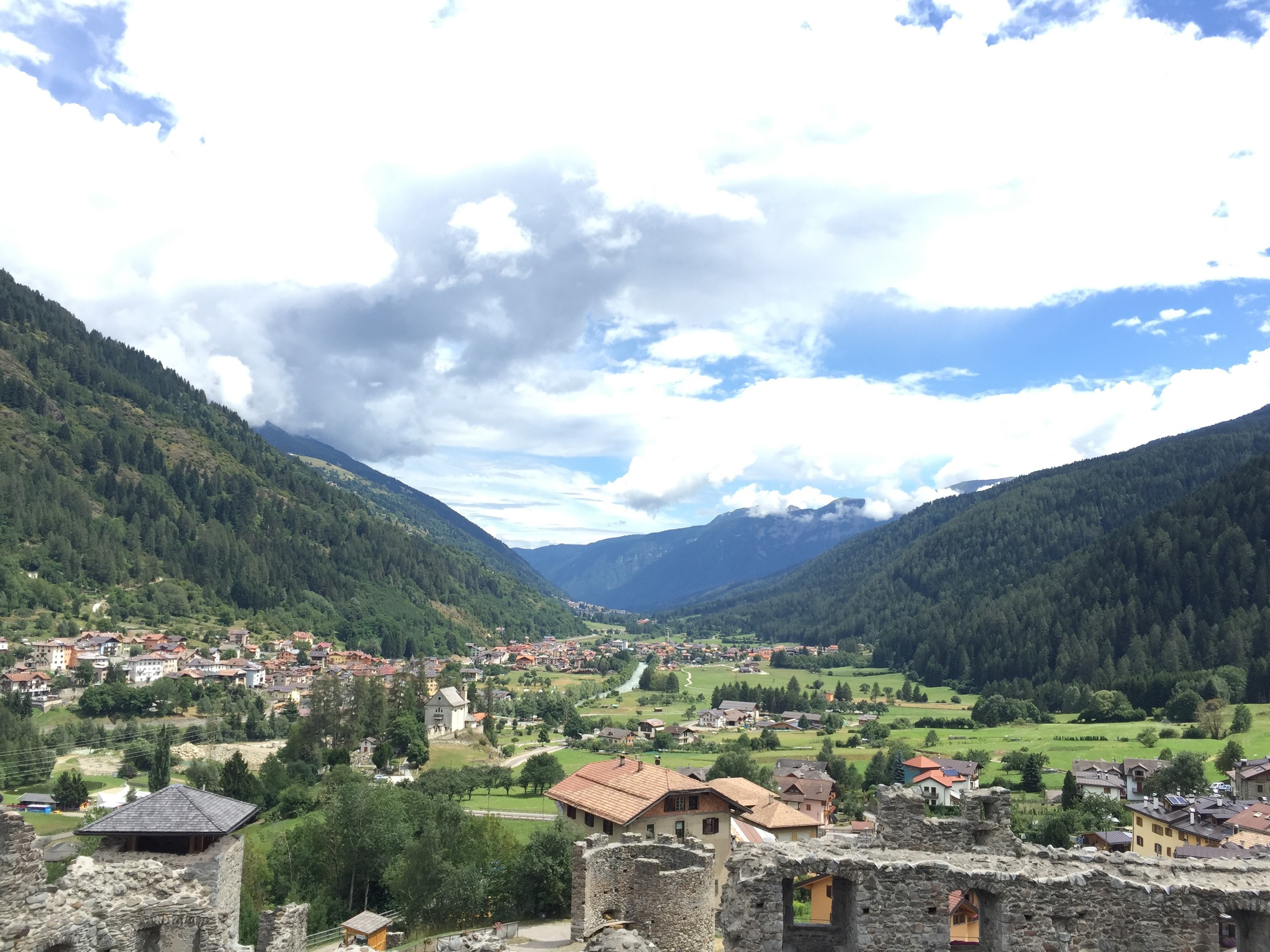 View from Castel Ossana