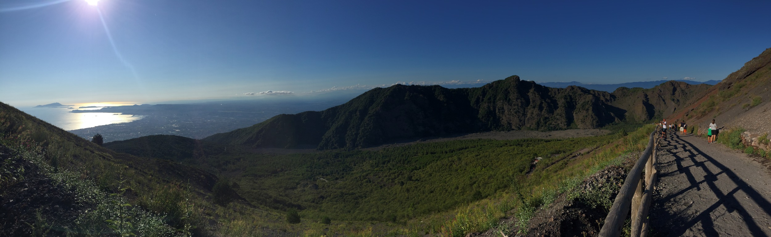 View from the top of Vesuvius