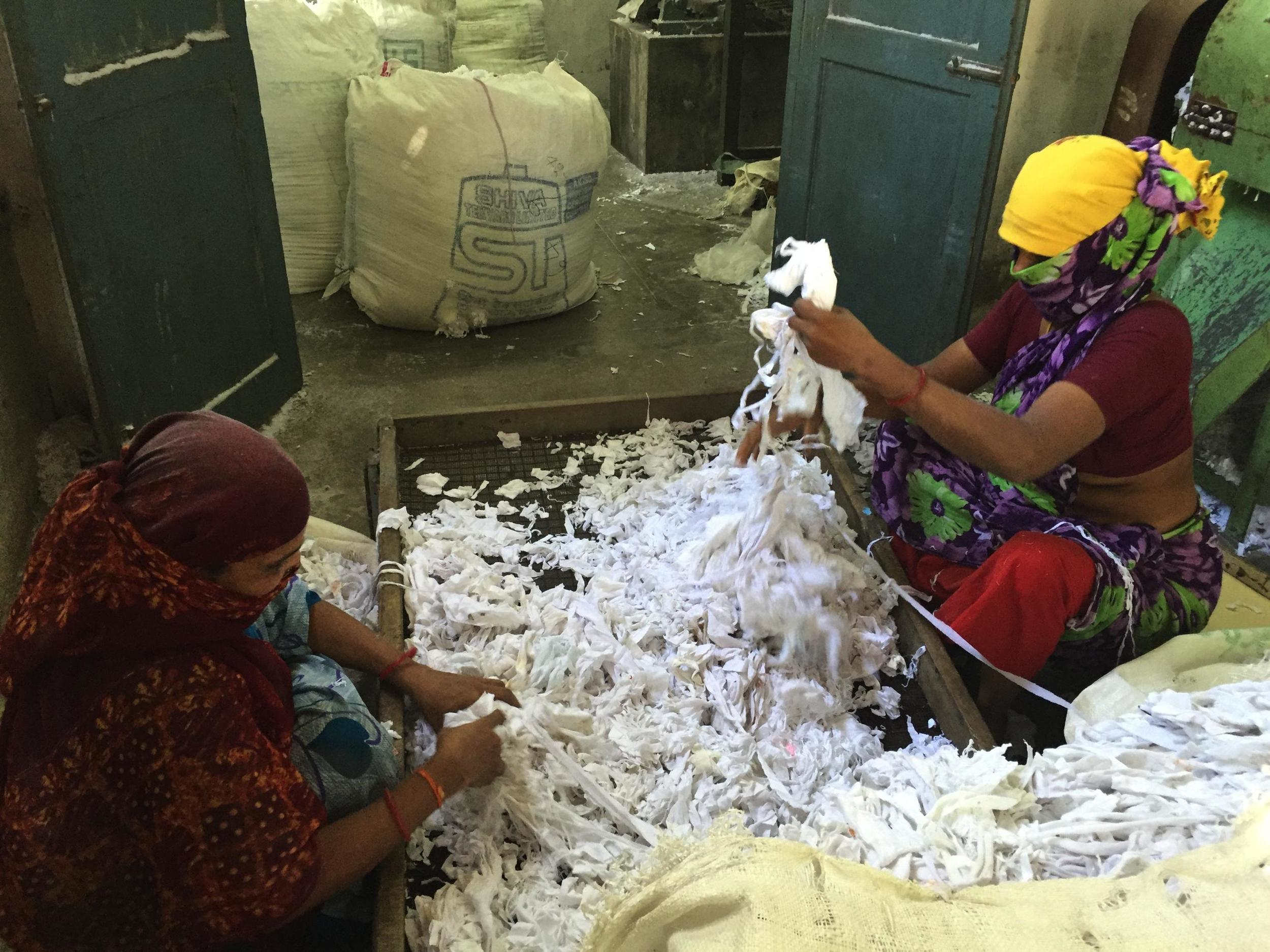 Recycled cotton to be made into paper