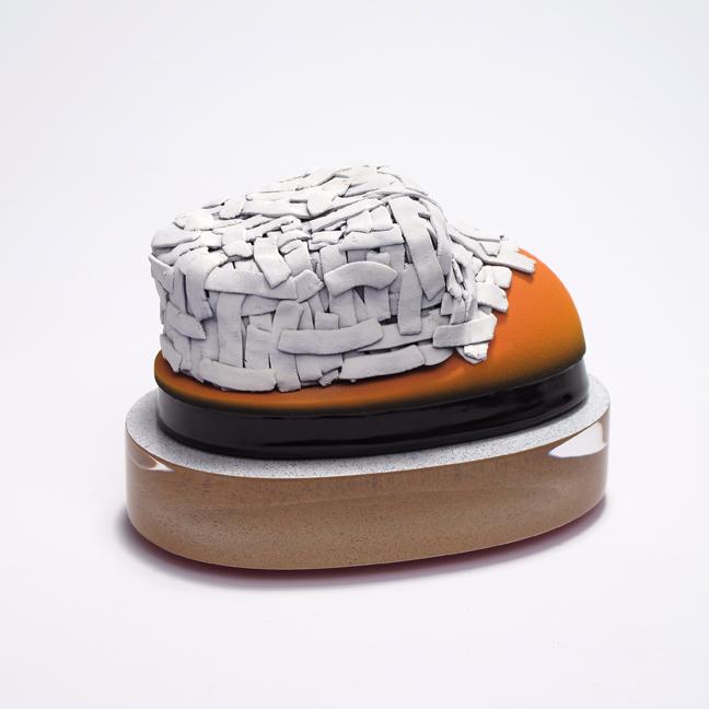 Hastings    White earthenware, underglaze, glaze, paint, acrylic, mixed media