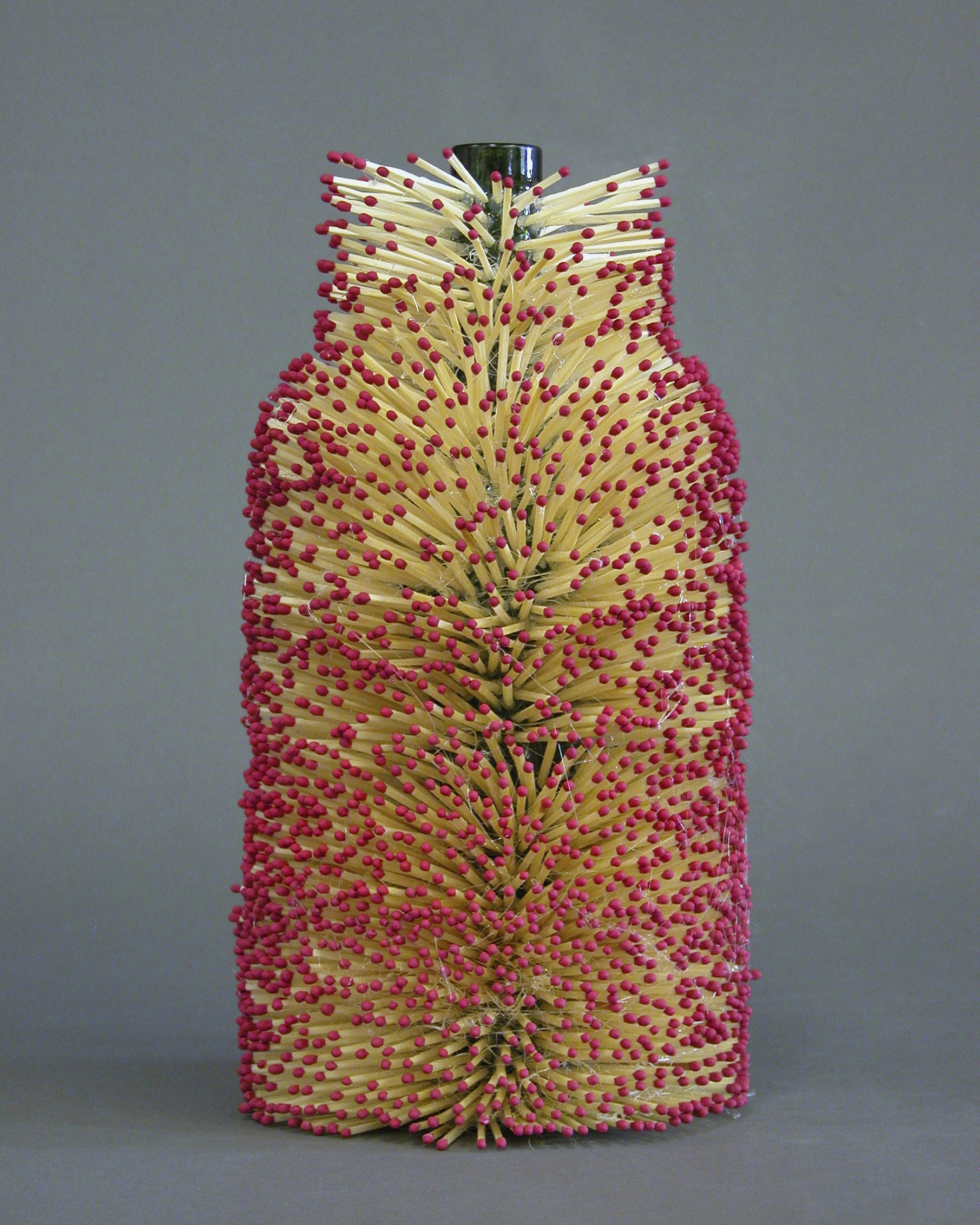 4. Wine Bottle with Matches
