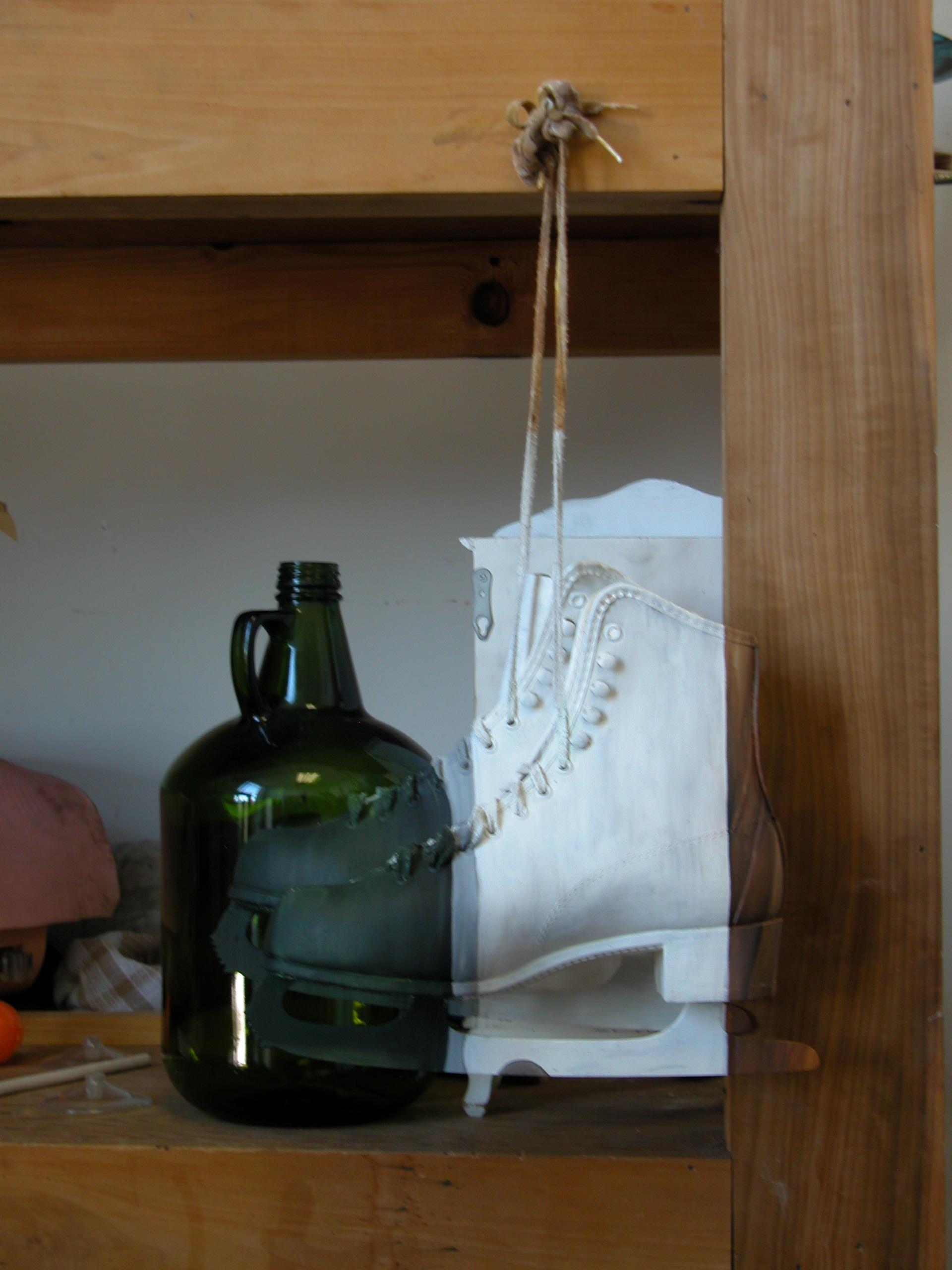 7. Pair of Ice Skates as Still Life Supply Shelf