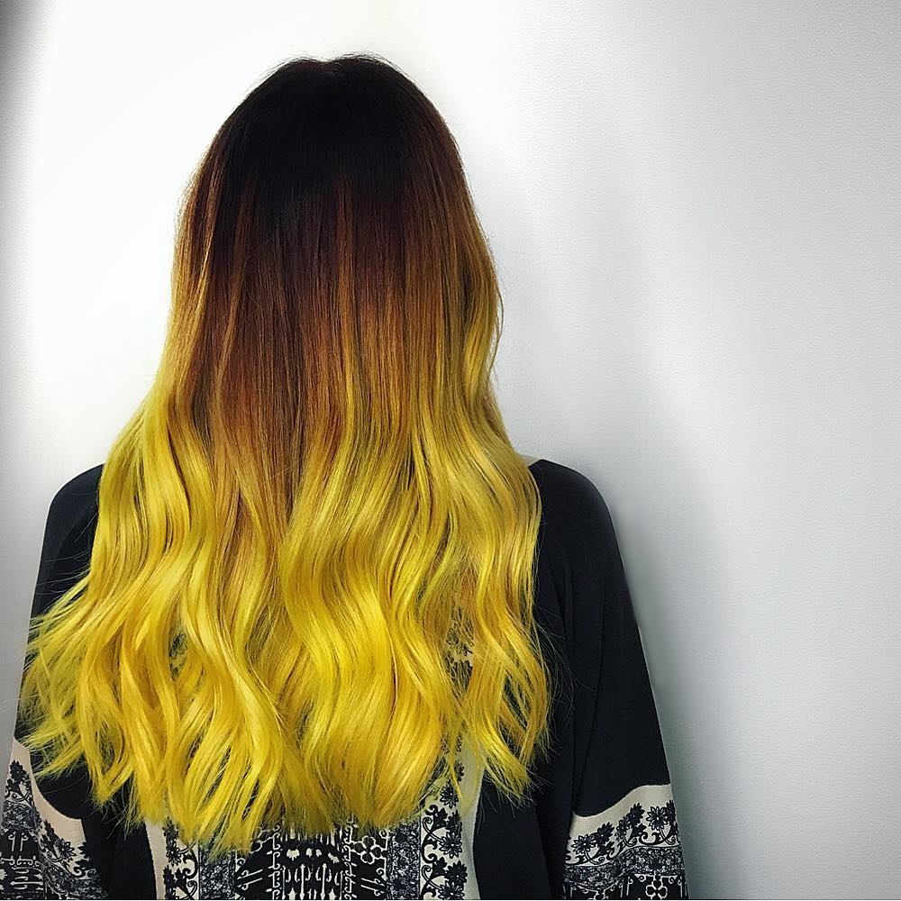 Not so mellow yellow 🍋⚡️by Hair Loft Color Director  Samantha Ploskonka  at Hair Loft West Loop