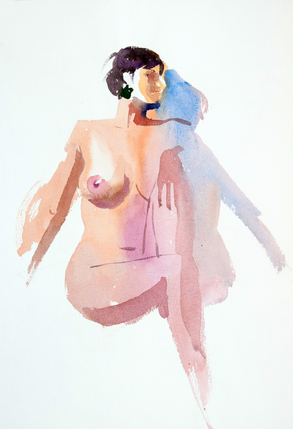 Marcelo Daldoce,  Shadow , Watercolor on paper, private collection.