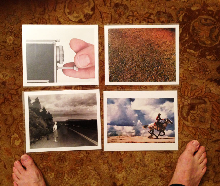Which One of These Prints is Upside Down? © Some Photographer (with Humble's co-founder Jon Feinstein's feet)