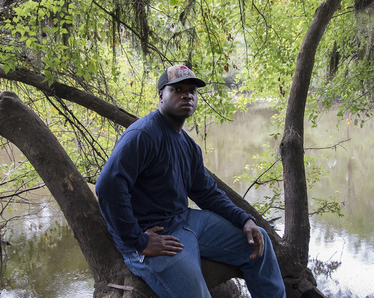 Derrick Fishing Off of Highway 24 Bridge, Screven County