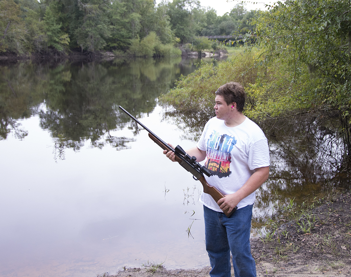 Tyler Jones Testing Out his New Rifle, Bulloch County