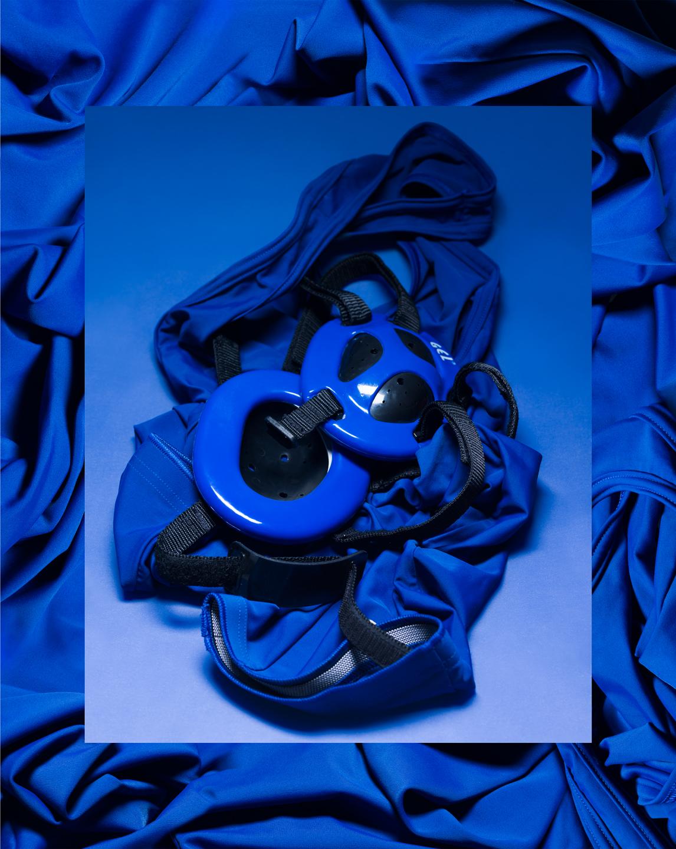 Blue Still Life with Singlet and Headgear