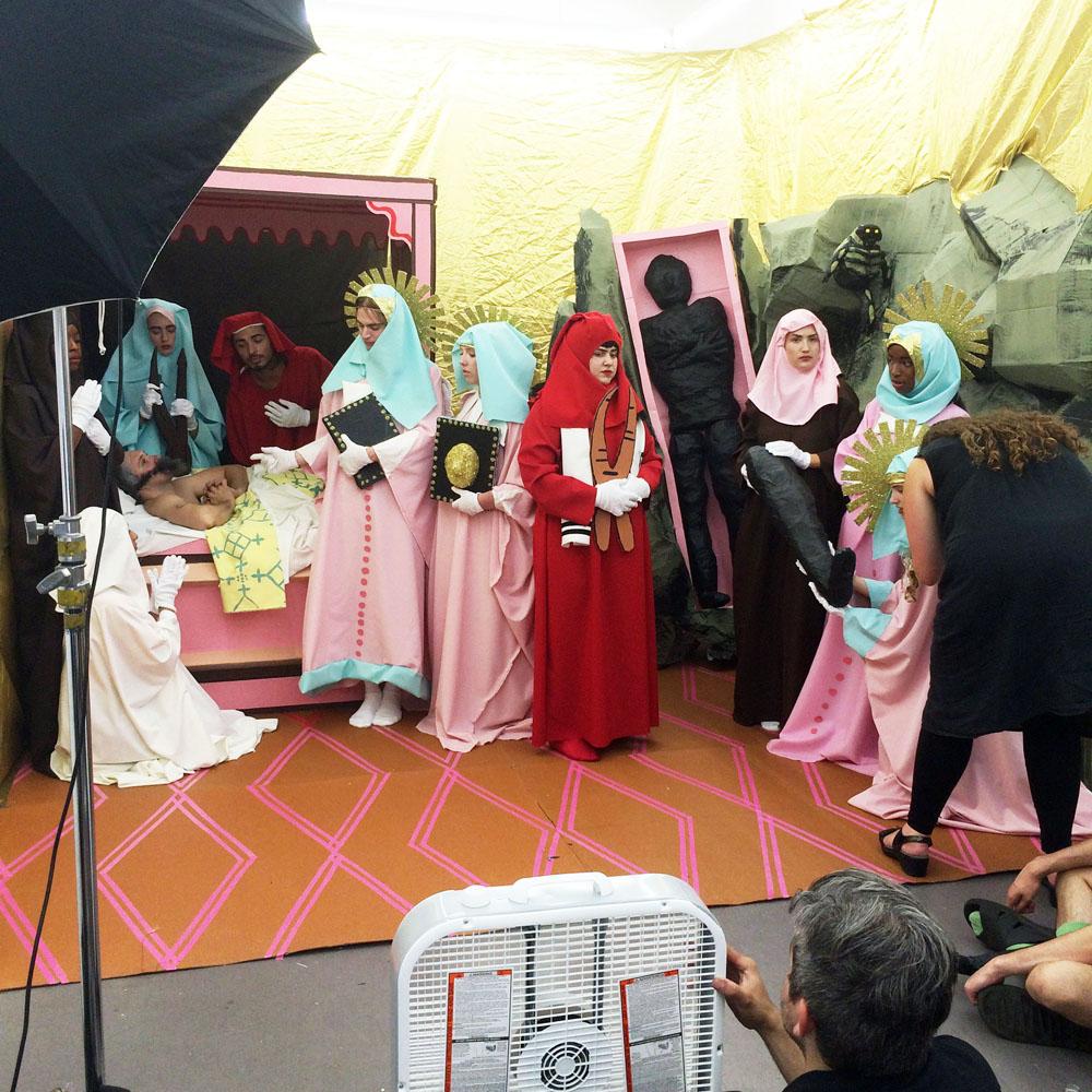 Behind the scenes at Jaimie Warren's recent shoot for VICE © Elizabeth Renstrom