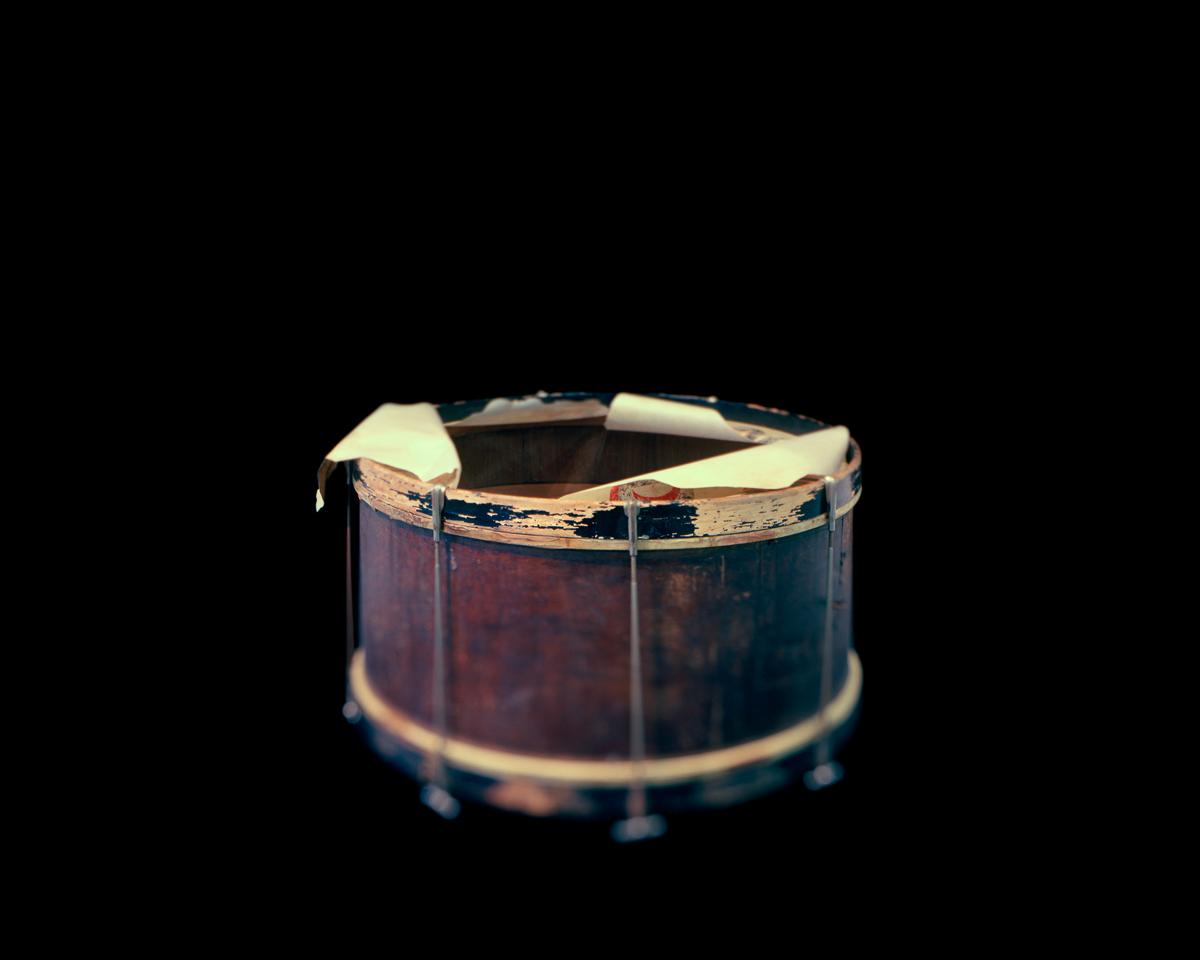 Drum, Dan Desdunes Band. Great Plain Black History Museum. Omaha, NE. © Wendel White