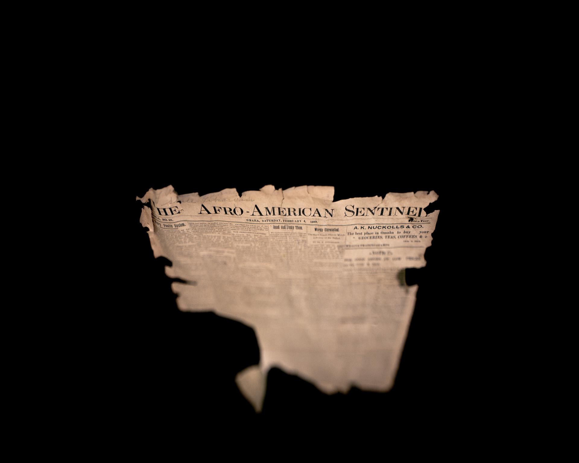 Afro-American Sentinel, 1899. Great Plain Black History Museum. Omaha, NE. © Wendel White