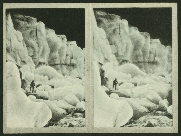 Bojun Glacier / Arents Stereoscopic Cigarette Cards