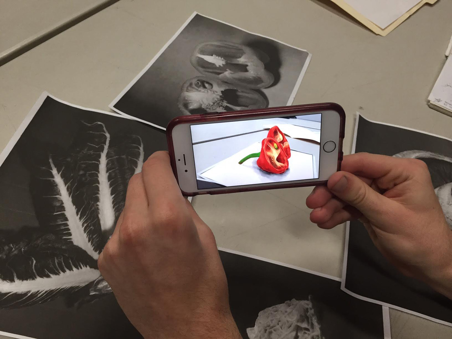 Augmenting Edward Weston during an early RIFFS session.