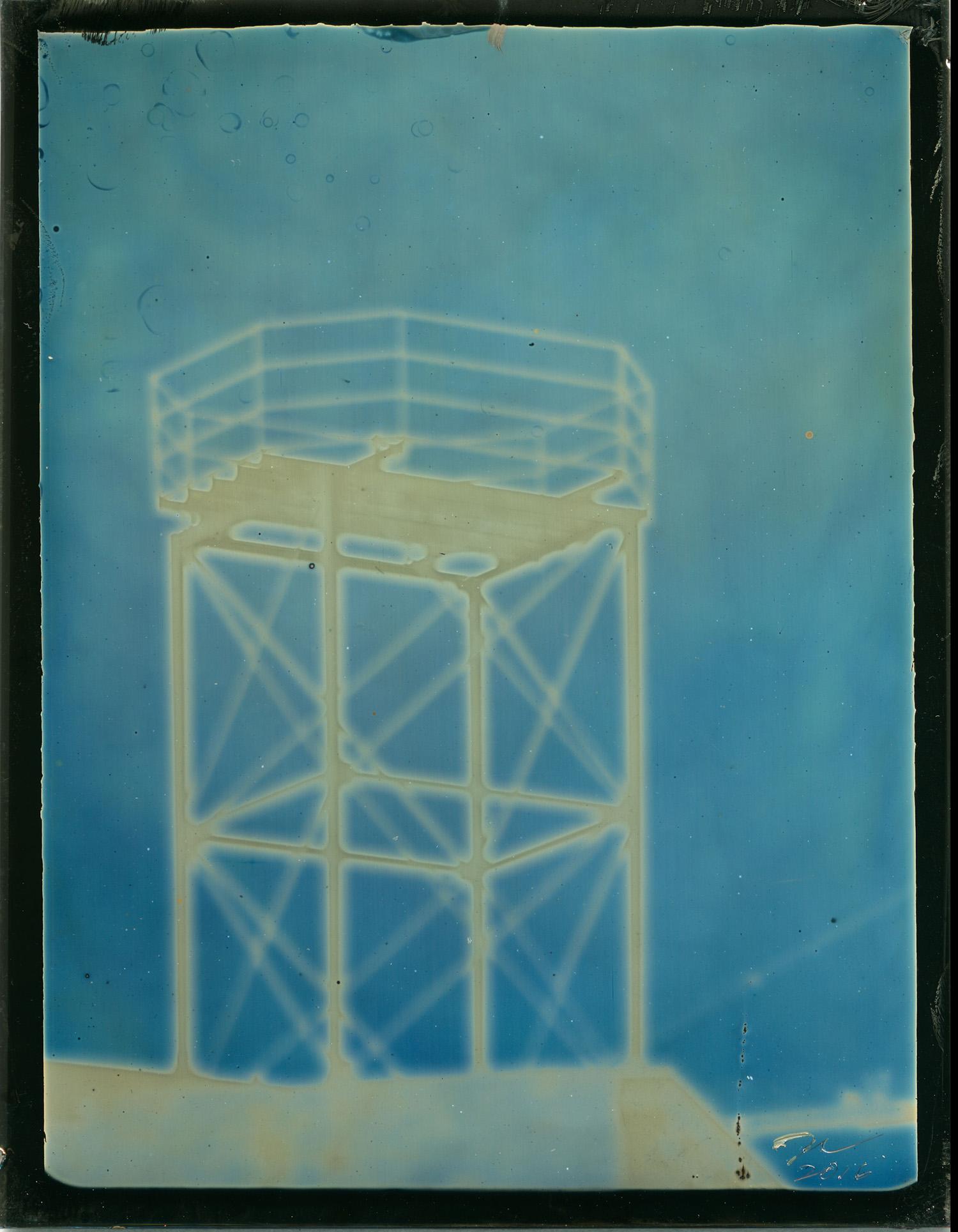 Water Tower, Unique daguerrotype, 2015 © Daniel Carrillo