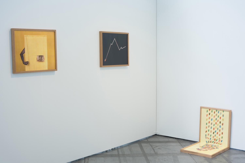 Installation view from Marcela Prado Ariza's thesis exhibition