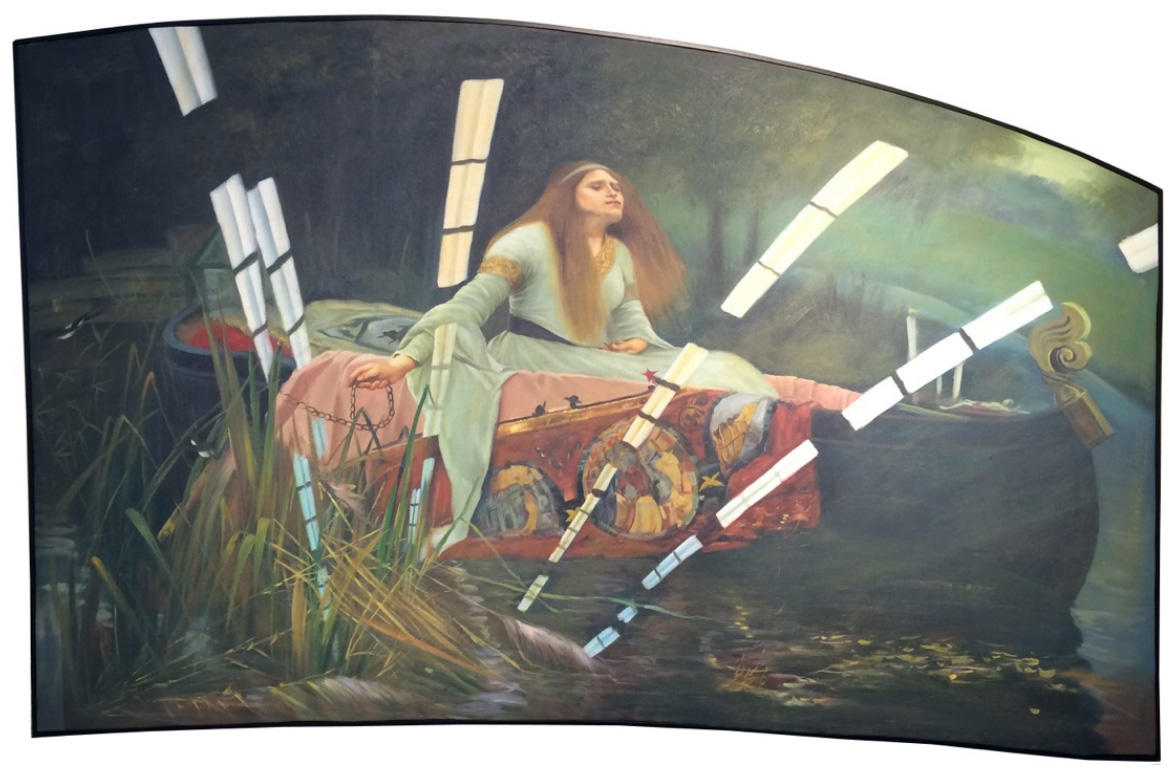 Lady of Shalott (Google Cultural Institute) After Waterhouse (Oil on Canvas, 2016) © Paul Stephenson