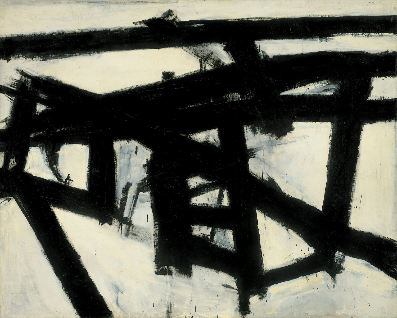 Mahoning (1956)  © Franz Kline (Fair use via  WikiArt )
