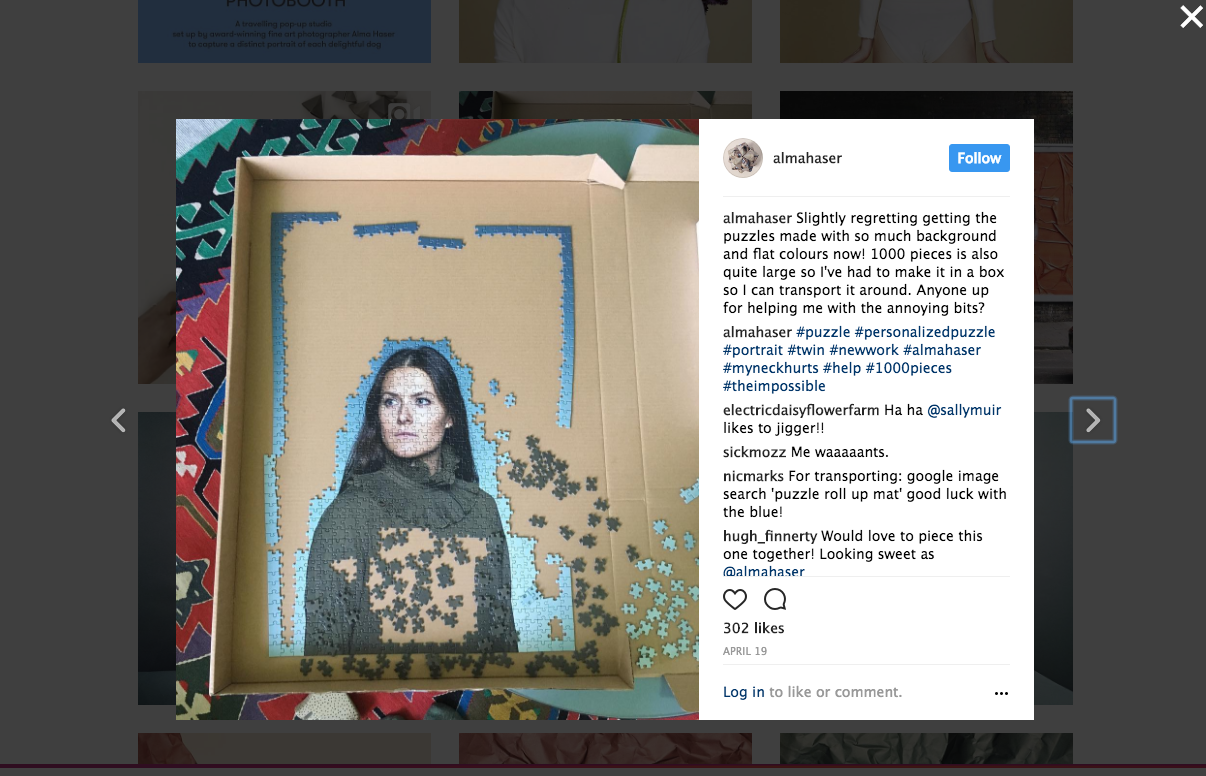 screengrab from Alma Haser's Instagram  @almahaser