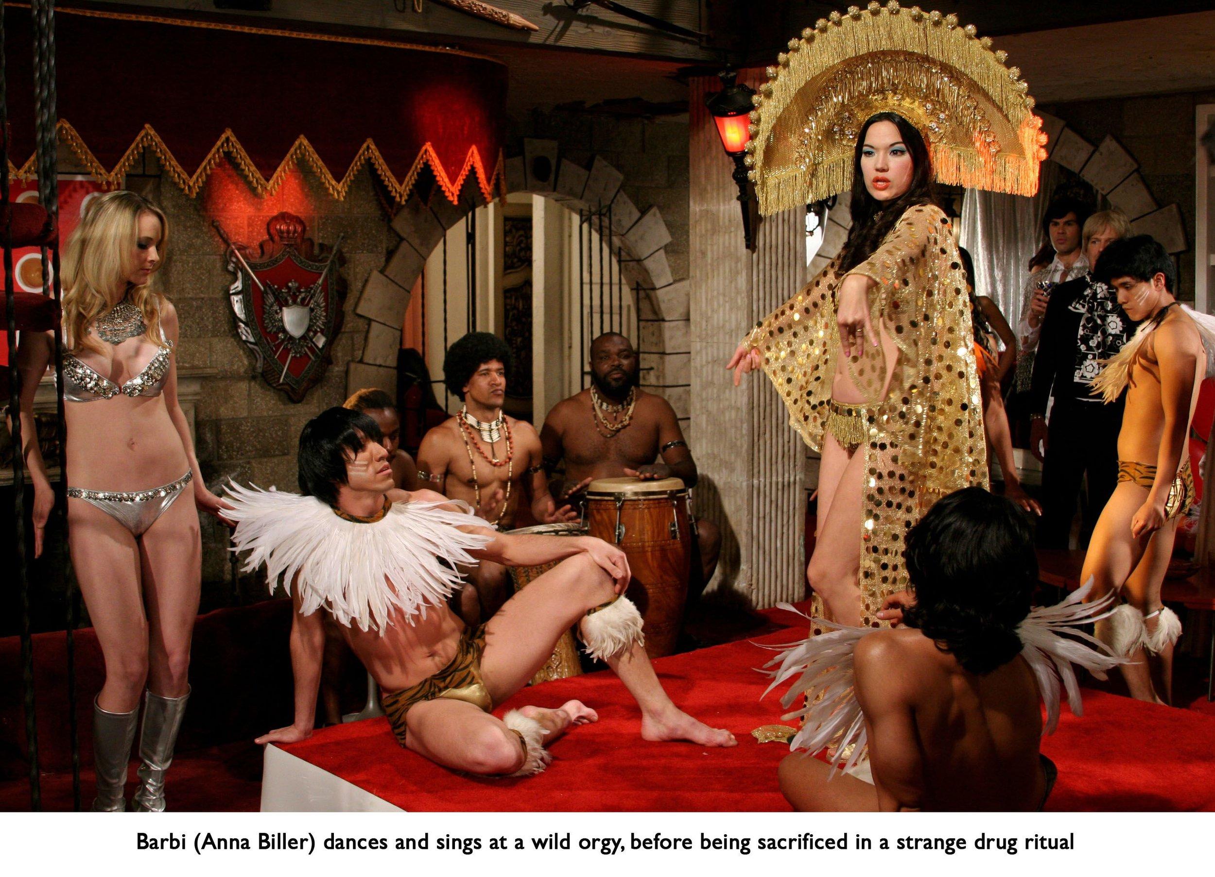 Ana Biller, Orgy scene from the film VIVA, 2007. Courtesy of Anna Biller Productions [Photo: Steve Dietl]