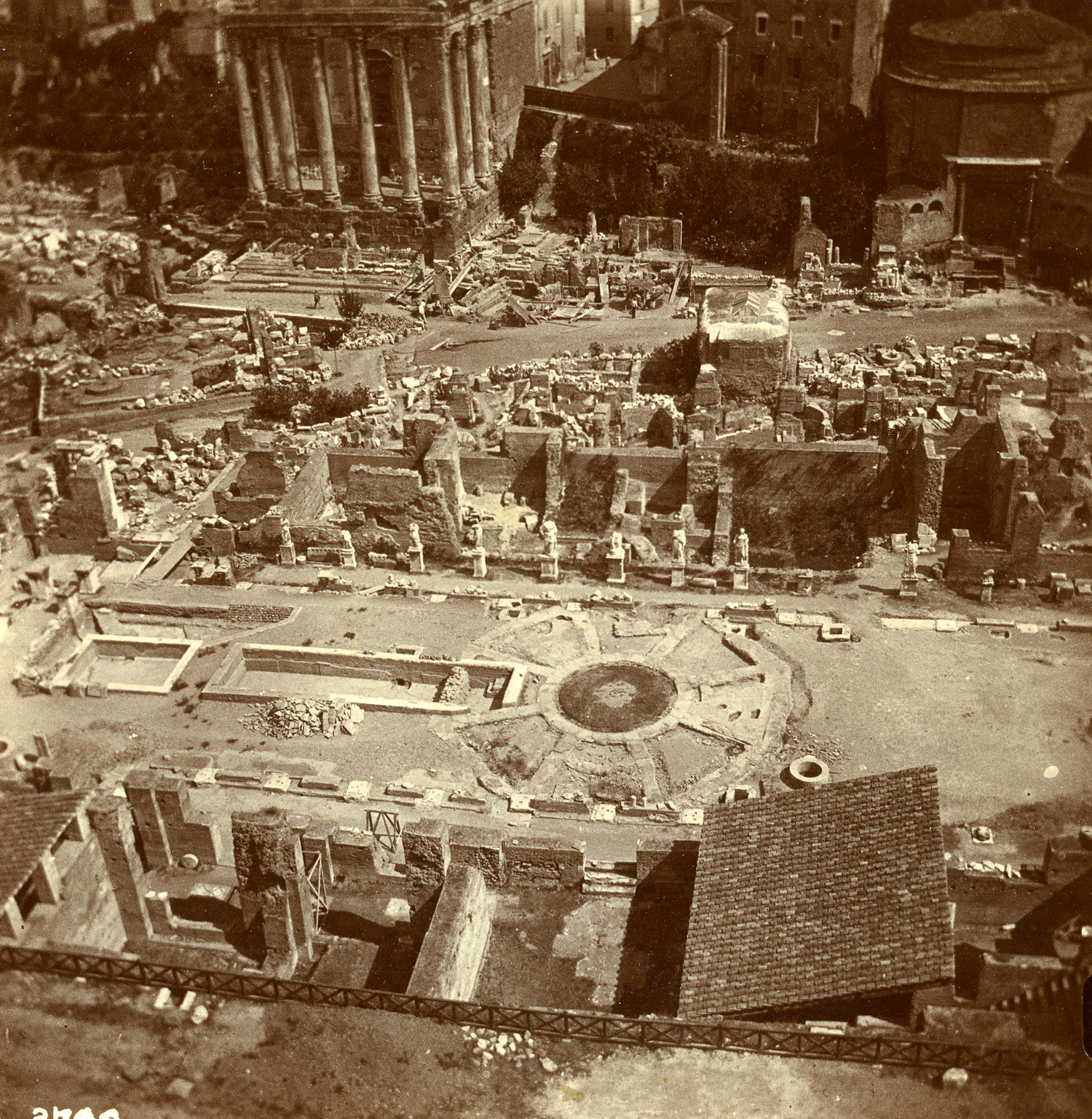 Columns of the Temple of Mars. Rome, 1903.  Albumen Print . ©Esther Boise Van Deman