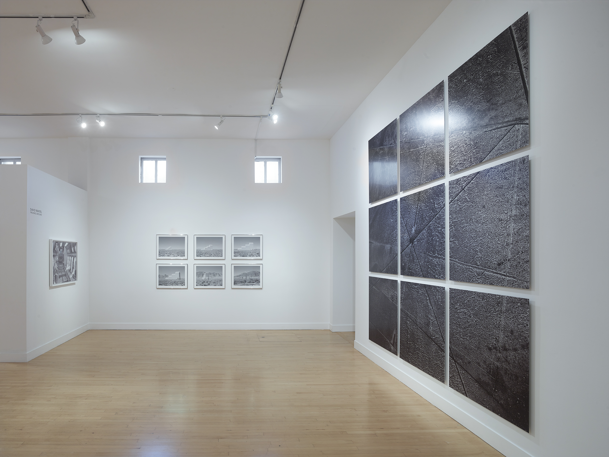 Proving Ground  Installation photograph.  Courtesy of Haines Gallery and David Maisel. Photo by Robert Divers Herrick.