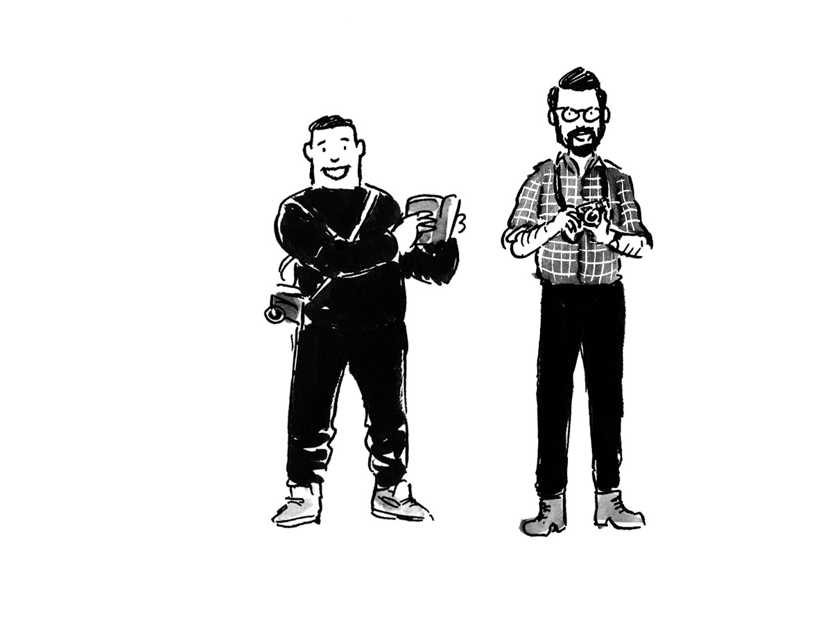 2/3 of The Observers: Paul Jun and Wesley Verhoeve– Illustrated by the other 3rd –Jeffrey Phillips