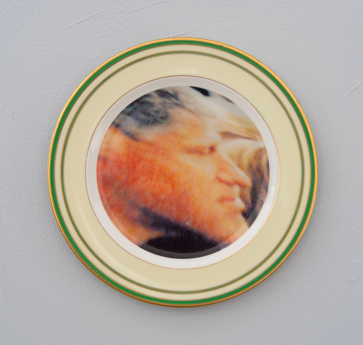 Bill Clinton, 2018; ceramic plate; 10 inch diameter.