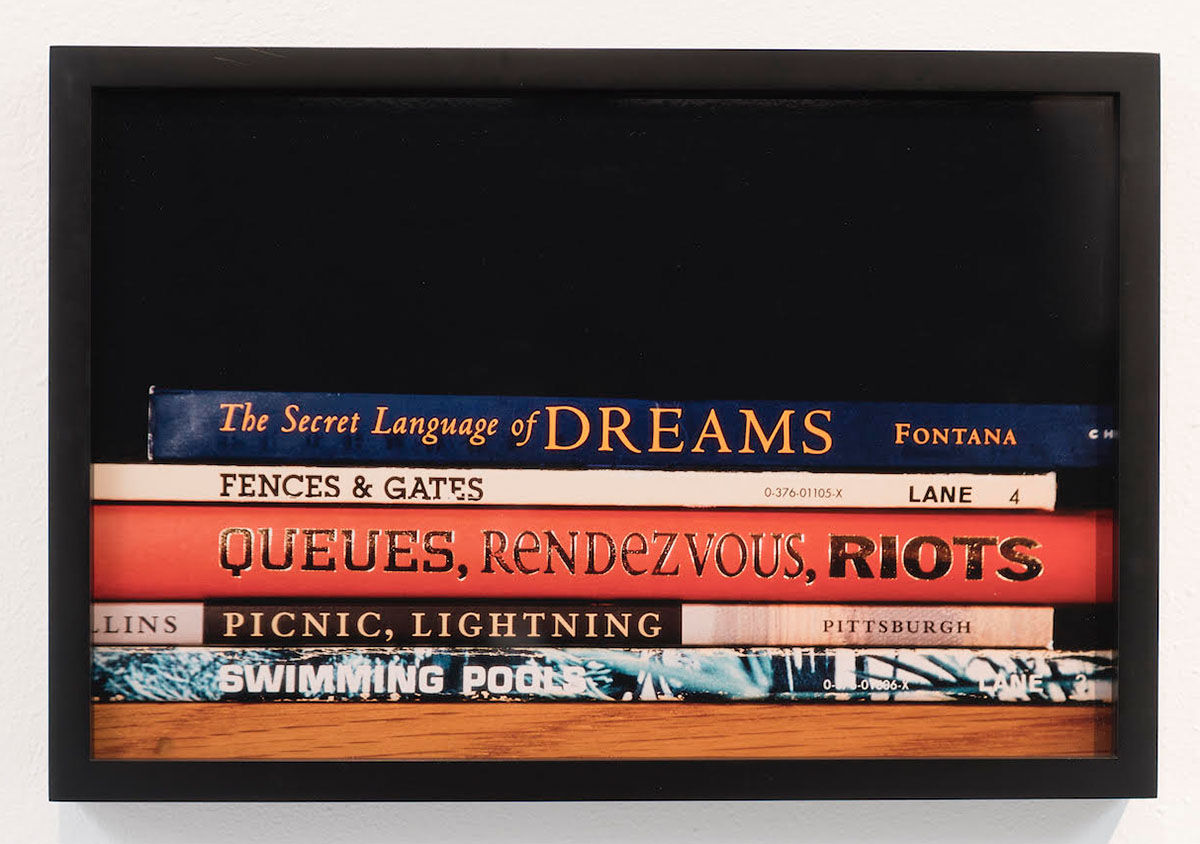 The Secret Language of Dreams from the series BookPace, 2002 (Sorted books project, 1993-ongoing)  © Nina Katchadourian