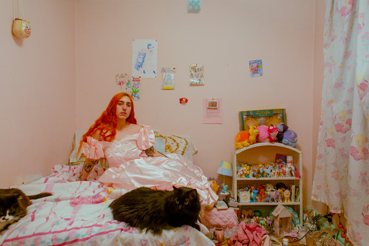 Playing Dress-up in Billy's Room. March 2019. From the series  Puberty . © Laurence Philomene