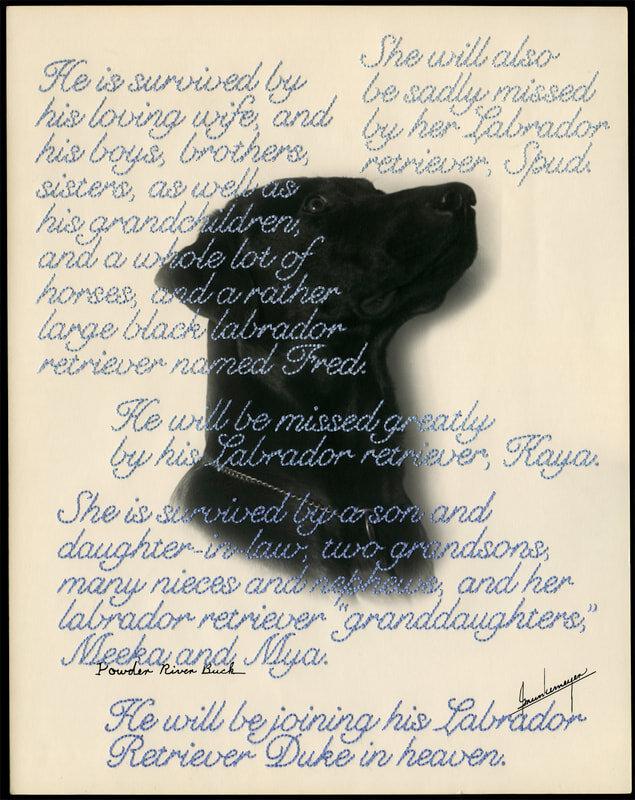 © Jane Waggoner Deschner. From the series  Remember Me (Labrador Retriever)