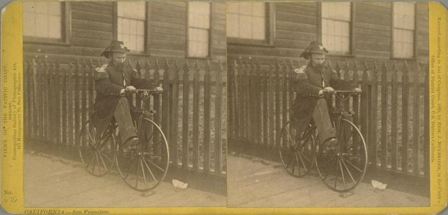 Emperor Norton by Eadweard Muybridge (stereograph), 1869