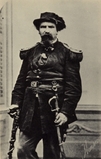 Emperor Norton in the 1870s. Photograph by the studio of Thomas Houseworth & Co. Source: California Historical Society.