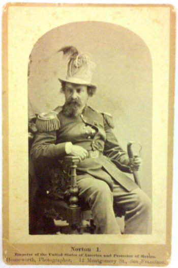 Cabinet card of Emperor Norton in the   1870s. Photograph by the studio of Thomas Houseworth & Co. Source:   California Historical Society.