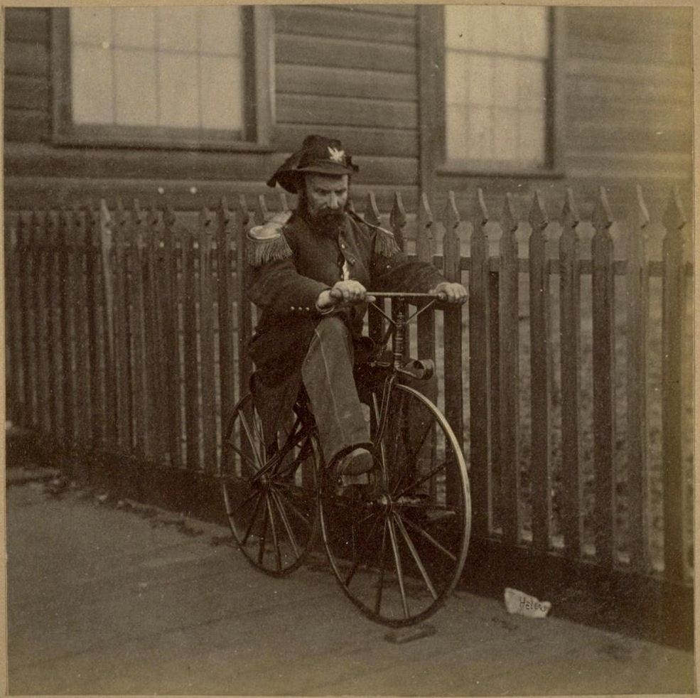 "Emperor Norton and his ""ride,""1869. Photograph by Eadweard Muybridge. Collection of the Bancroft Library, University of California Berkeley."