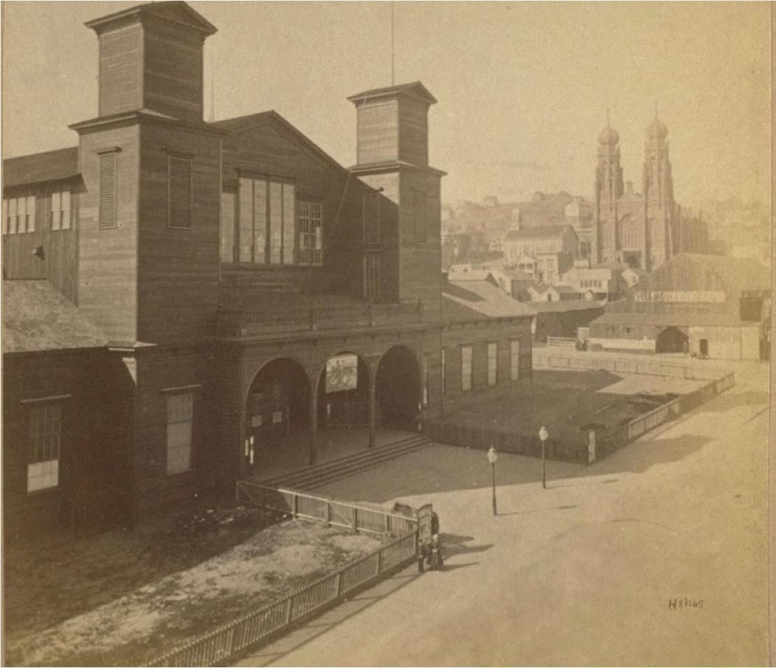 Fourth Mechanics' Pavilion.Photo: Eadweard Muybridge. Source:Mechanics' Institute.
