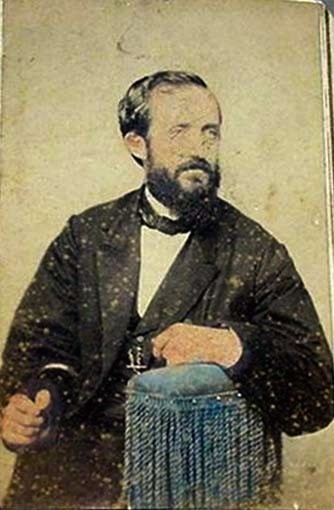 Detail of undated photograph of O.P. Fitzgerald. Source:  Caswell County (N.C.) Photograph Collection