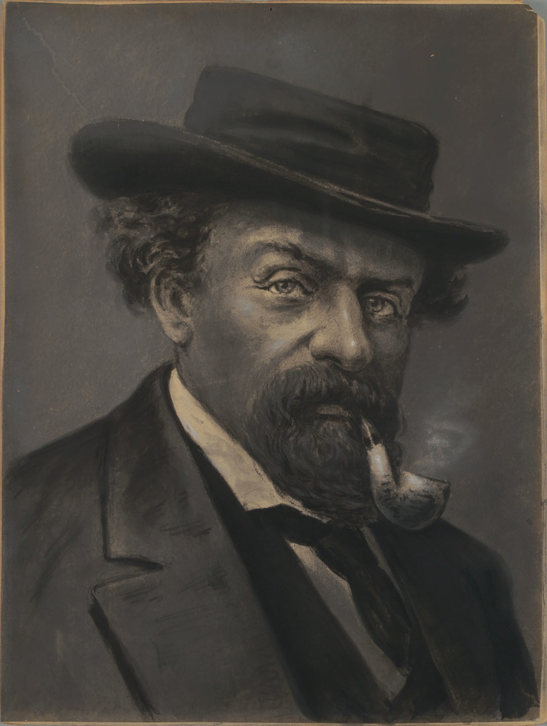 Painting by Virgil Williams (1830-1886), c.1870s. Collection of the Bancroft Library at the University of California Berkeley. Source:  Calisphere .