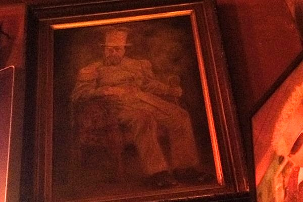 Undated and uncredited painting  at the hofbrau Tommy's Joynt, in San Francisco. Photograph  © Annetta Black.