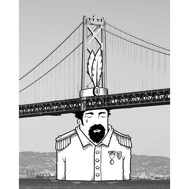 """""""Name It After Norton"""" (2015),by Jeremy Fish (b. 1974).  Created for the show  O Glorious City , on view at San Francisco City Hall from 4 November 2015 to 25 March 2016.  © 2015 Jeremy Fish.Source:  Jeremy Fish ."""