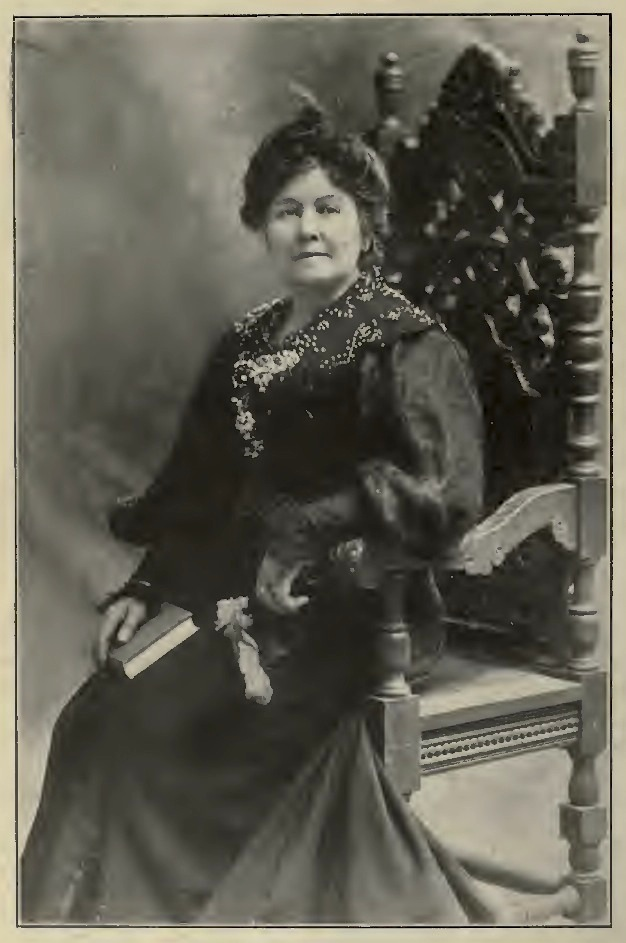 Author and anthologist  Ella Sterling Cummins Mighels (1853-1934) , the Gatherer of  Literary California: Poetry, Prose & Portraits  (Harr Wagner Publishing, 1918). Source:  Internet Archive .