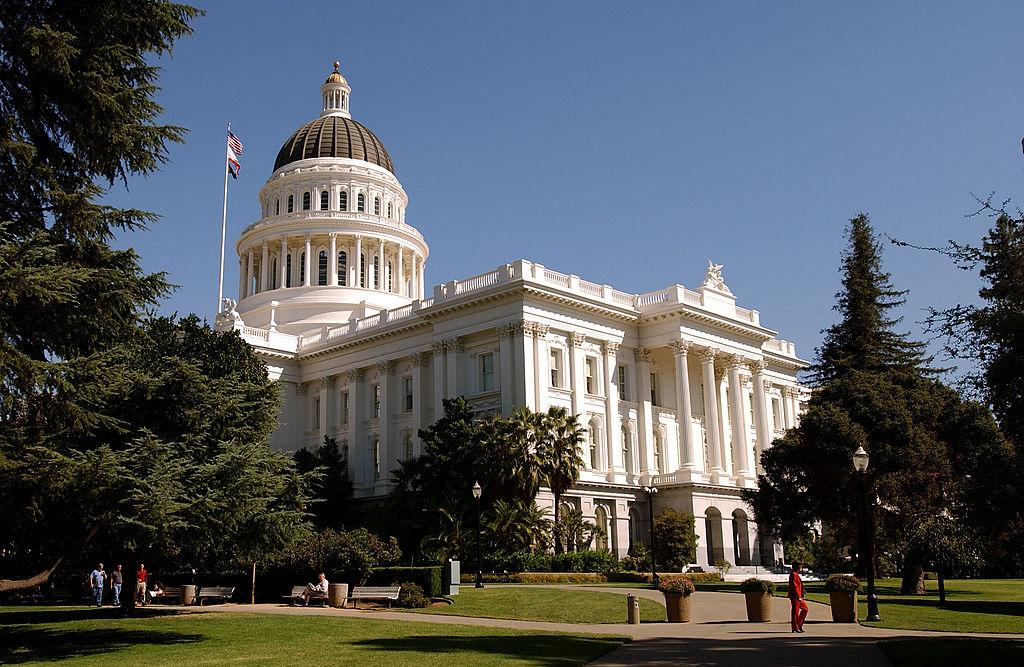California State Capitol building , in Sacramento. Photograph: David Paul Morris. © 2003