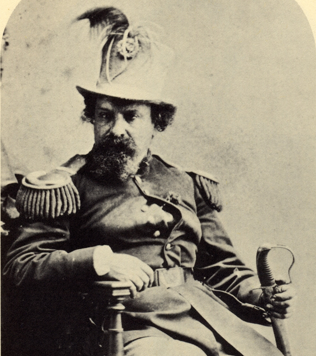 Emperor Norton, mid 1870s.  Detail from photograph by Thomas Houseworth & Co. Collection of the California Historical Society.