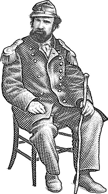 """Photo illustration of Emperor Norton, 2015, by  The Wall Street Journal .  This illustration (which is based on the photograph  here ) appeared with an article that ran in the paper's 12 August 2015 print edition under the headline """"In San Francisco, Subjects Still Long for Ersatz Emperor of Yore."""" (To view the print article, click  here .)  © 2015 Dow Jones & Co."""
