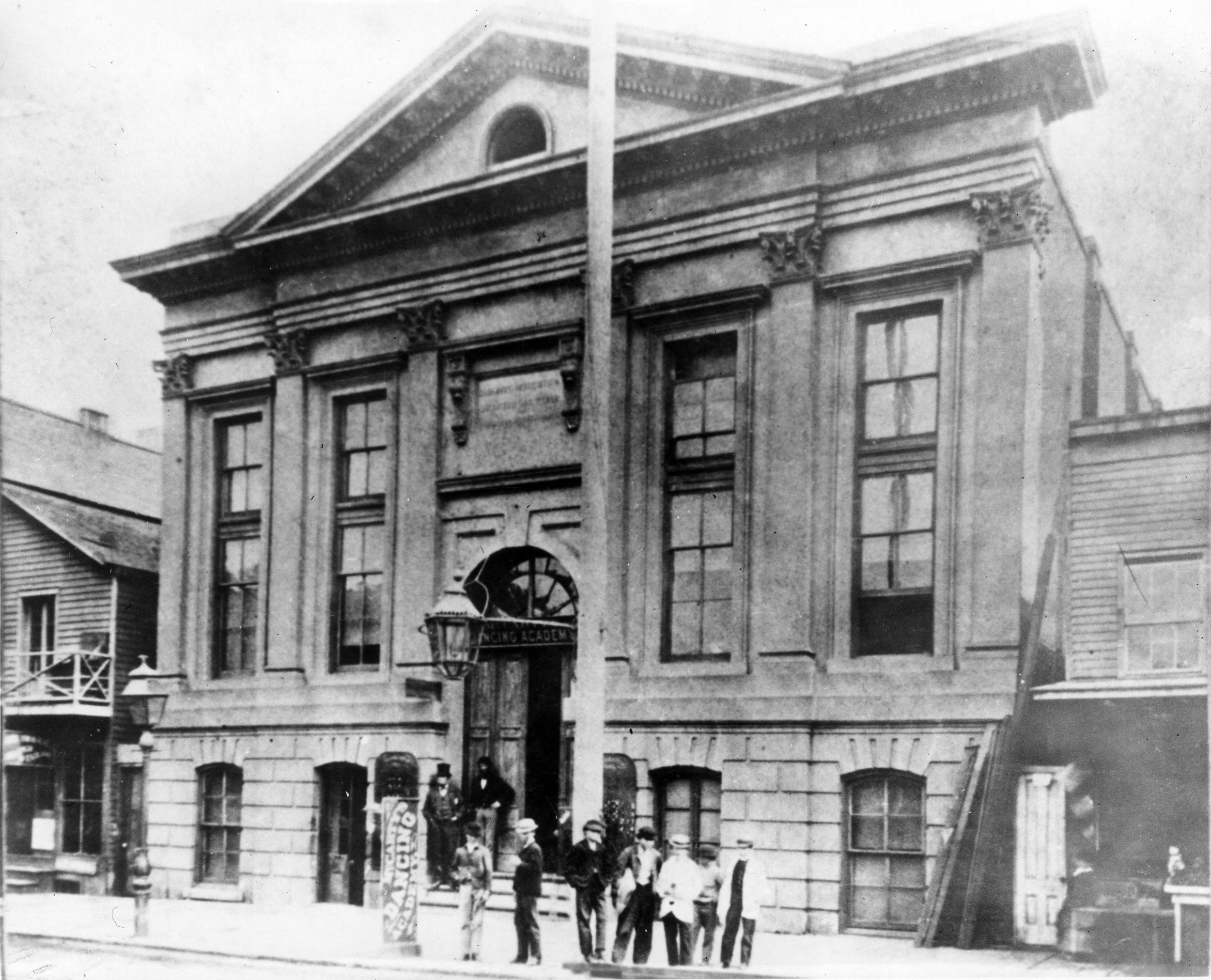 Dashaway Hall, at  139 Post Street, San Francisco, in 1867.  Here, the Emperor Norton attended weekly meetings of the Lyceum for Self-Culture. Photograph by Eadweard Muybridge. Source:  San Jose State University . (This building and site has been added to The Emperor's Bridge Campaign's Emperor Norton Map of the World,  here .)