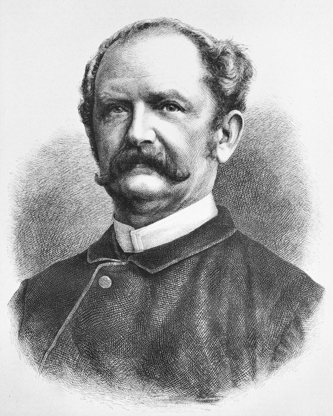 Ernst Keil (1816–1878).  This engraving by Adolf Neumann, from a photograph by W. Höffert, appeared in  Die Gartenlaube , No. 35, 1878.