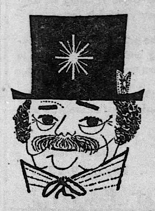 """Illustration  in advertisement for episode of  Telephone Time  (CBS): """"Emperor Norton's Bridge,"""" Season 1, Episode 8, 1956. Ad in  New York Daily News , 19 August 1956. Source: Newspapers.com. View full ad  here . View episode in The Emperor's Bridge Campaign's digital  AR chive of  E mperor  N orton in  A rt, Music & Film (ARENA)  here ."""