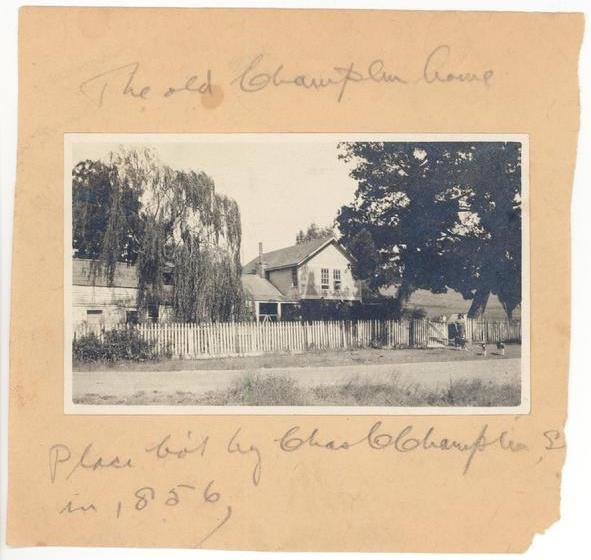 Champlin Ranch house (1856) , in the 1920s. Source:  ChamplinRanch.com